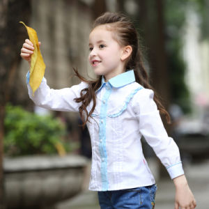 New Style Fashion Baby Girls Long Sleeve Cotton Shirt Manufacturer pictures & photos