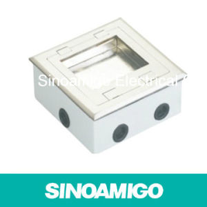 Foor Box Open Type Hinged Floor Power Outlet Wiring Distribution Universal Socket Box pictures & photos