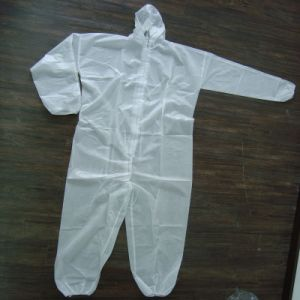 Disposable 105*145cm 35GSM PP Coveralls with Hood