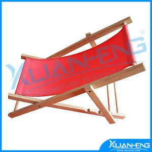 Red Folding Wooden Adjustable Lounge Beach Chair W/ Pillow pictures & photos