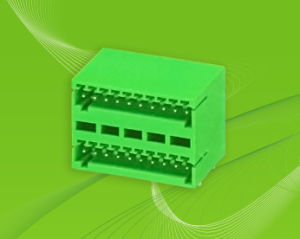 Pluggable Terminal Block for Dual-Row Cables with 2.5mm Pin Spacing pictures & photos