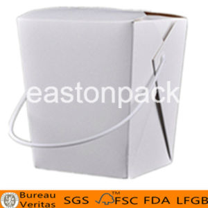 32oz Disposable Take out Paper Noodle Box with Handle pictures & photos