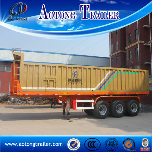 New Design U Type Three Axle 50 Tons Dump Semi Trailer for Sale pictures & photos