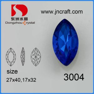 Wholesale Big Size Capri Blue Crystal Stone for Jewelry Making pictures & photos