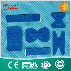 Blue Ealstic Fabric Metal Detectable Adhesive Plasters pictures & photos