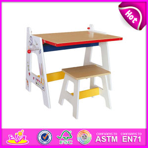 2014 New Wooden Draw Table for Kids, Stable Wooden Draw Table Set for Children, Educational Wooden Draw Table Toy for Baby W08g126 pictures & photos