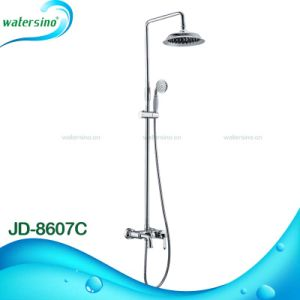Brass Exposed Shower Faucet Mixer with Marble Handle pictures & photos