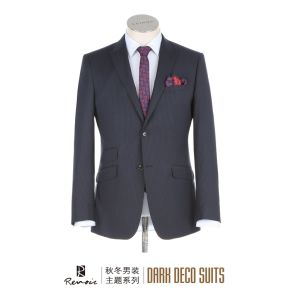 OEM Peak Lapel Slim Fit Men′s Business Suit pictures & photos