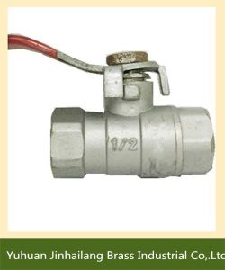 Manual Female Brass Ball Valve with Steel Handle