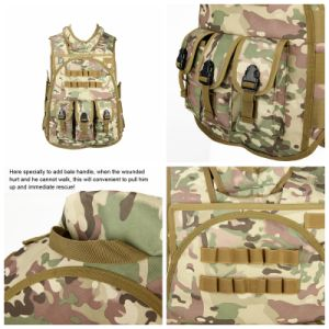 Soft Camouflage Bulletproof Military Gear Molle Combat Tactical Vest Cl4-0027 pictures & photos
