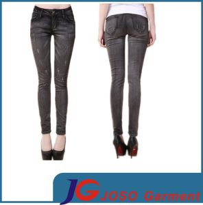 Pocket Dimond Superstretch Leg Jeans Slim Jean (JC1314) pictures & photos
