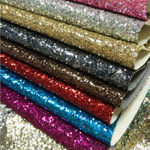 Shiny 3D PVC Glitter Leather for Shoes, Handbags and Upholstery