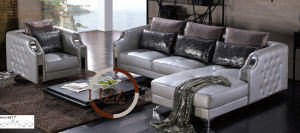Furniture L Shape Leather Sofa in Bangladesh Price pictures & photos