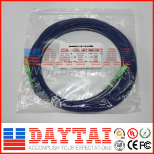 Optical Fiber Armored Sc/APC Patch Cord pictures & photos