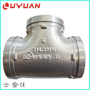 Ductile Iron Grooved Equal Tee with UL Approval for Water Pipeline pictures & photos