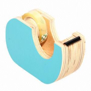 Durable Wood Tape Dispenser with Light Bule Color pictures & photos