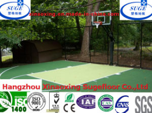 Mini Basketball Flooring PP Smell Less Laminate Floor Tiles pictures & photos