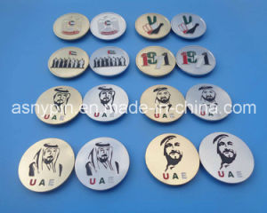 2016 UAE National Day Metal Logo Magnet Badges Wholesale pictures & photos