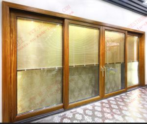 Thermal Break Aluminum Sliding Door with Built-in Shutters (BHA-DS13) pictures & photos