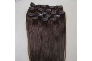 100% Human Hair Clip in Hair Extensions Brazilian Remy Hair
