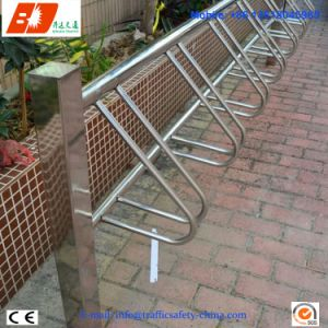 Stainless Steel Vertical Column Type Bicycle Parking Stand Rack for Sale pictures & photos