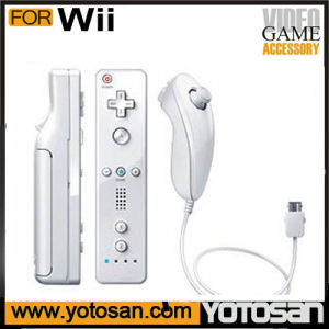 Built in Motion Plus Remote+Nunchuck Controller+Case+Wrist Strap for Nintendo Wii pictures & photos
