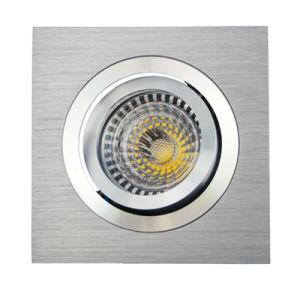 Lathe Aluminum GU10 MR16 Sauqre Tilt Recessed Downlight (LT2301) pictures & photos