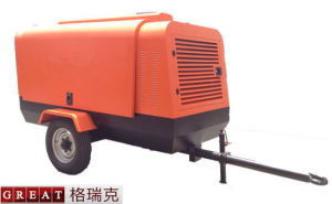 Diesel Engine Driven Portable Screw Air Compressor pictures & photos