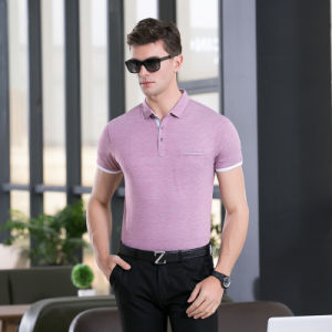 Classic Fit Men Short Sleeve Plain Business&Casual Clothing Polo Shirt pictures & photos