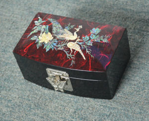 Handwork Colored Drawing Wooden Toiletry Box pictures & photos