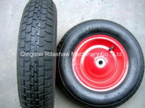 "16"" Wide Pneumatic Wheel Tyre Wheelbarrow Plastic Rim 4 Ply pictures & photos"