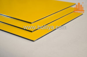 Gold Golden Mirror Brush Hairline Outdoor Aluminium Sign Substrate pictures & photos