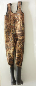 Waterproof Camo High Chest Fishing Wader (HX-FW0018) pictures & photos