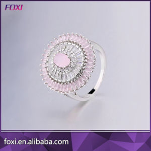 Simple Design Fashion 18k Gold Plated CZ Rings pictures & photos