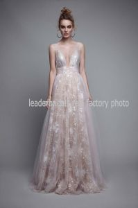 Sheer Party Cocktail Dress Lace Tulle Prom Evening Dresses Gown Ld1151 pictures & photos