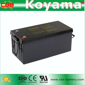 DC210-12 12V 210ah Rechargeable AGM Battery for Electric Boats pictures & photos