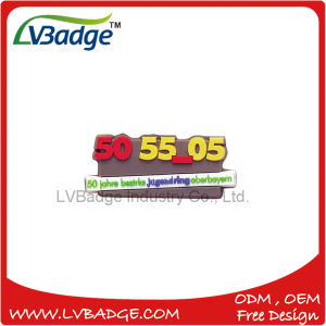 Soft PVC Pin 3D Logo with Safety Pin pictures & photos