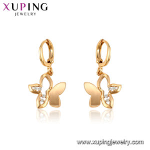 95767 Fashion Hot Sales Diamond Earring Drop in 18K Gold Color pictures & photos