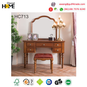 Simple Design Americian Style Oak Wooden Furniture Bed (AD813) pictures & photos