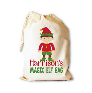 Cotton Drawstring Christmas Gift Bag with for Christmas pictures & photos