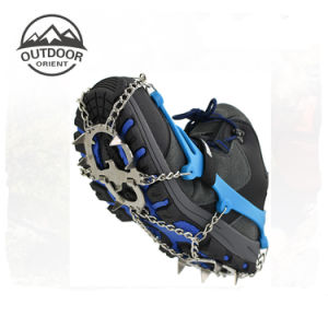 Custom Manufacturing Winter Anti Slip Outdoor Mountain Safety Ice Crampons for Shoes pictures & photos