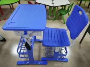 Kids Study Table Plastic Classroom Student Desk and Chair pictures & photos