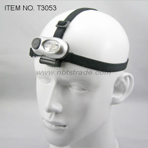 Micro 4 LED Headlamp with Elastic Nylon Band (T3053) pictures & photos