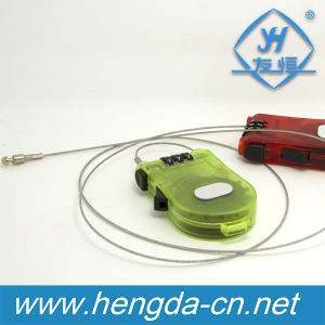 Retractable Flexible Cable Combination Lock/Plastic Luggage Lock (YH9909) pictures & photos