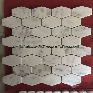 China Bianco Carrara White Marble Mosaic for Wall pictures & photos