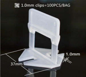 1.0mm Flat Clip of Tile Leveling System for 3mm-12mm Tile pictures & photos