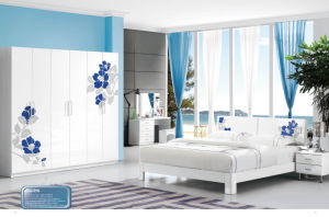 Best-Selling Modern Adult Bedroom Set Wooden Bedroom Furniture (H215) pictures & photos
