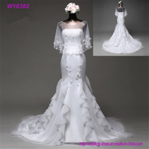 Wedding Dress Bride Ivory Chiffon Open Back Floor Length Sexy Dress pictures & photos