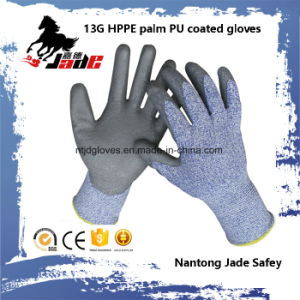 13G PU Coated Cut Resistant Hand Glove Level Grade 3 and 5 pictures & photos