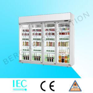 Supermarket Glass Door Soft Drink Display Refrigerator with Ce pictures & photos